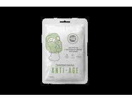 Тканевая маска лицо Anti-age, экстракт стволовых клеток растений