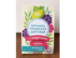 """Мочалка джутовая с мыльной стружкой """"Крымские горы""""."""