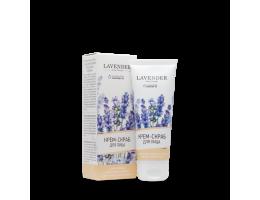 """Крем-скраб для лица с абразивом кедрового ореха для всех типов кожи """"LAVENDER"""""""