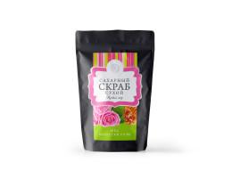 """Сухой сахарный скраб """"Розовый мёд"""""""