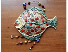 Керамическая рыба на стену